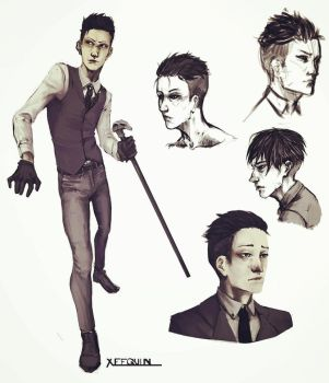 Kaz Sketches by MakerofMasks