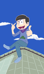 Karamatsu on a Roof by Memby