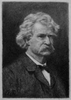 Mark Twain on Artist Trading Card by TinyAna