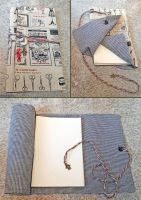 Cloth wrapped art journal by dreamstone
