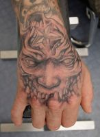 monster hand tattoo by graynd
