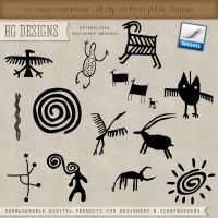 PS Brushes: Petroglyphs by HGGraphicDesigns