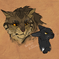 Tigerclaw and Ravenpaw by Spirit-Of-Alaska