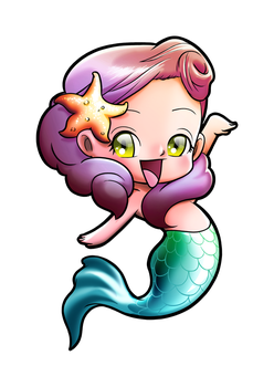 Chibi Mermaid by gomitas