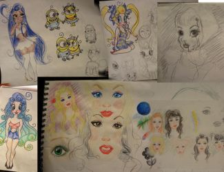 Drawings from the first week of Dec by 17cherry