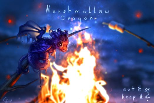 [Original] Marshmallow Dragon! by Scyrina
