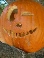 Jack-o-lantern in a tree IV by dull-stock