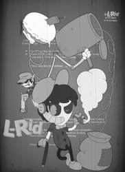 L-Rid in 1930's Art Style (black and white) by L-Rid