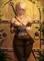Welcome to Witcher - Ciri fanart  commission\ by thaumazo