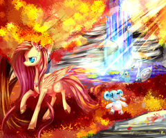 Fluttershy and the pokemon forest MLP