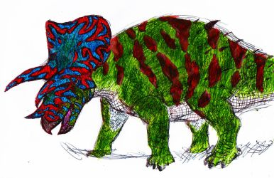 Acidtripoceratops prorsus by AnonymousLlama428
