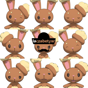 Buneary's Facial Expressions by laczabetyar