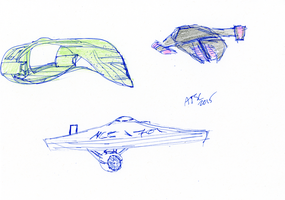 Star Trek Ships Sketch by AdamTSC