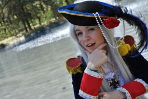 the awesome meter never lies- Fem!prussia cosplay by Voldiesama