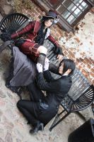 Sebastian turns to Ciel by ShadowFox-Cosplay