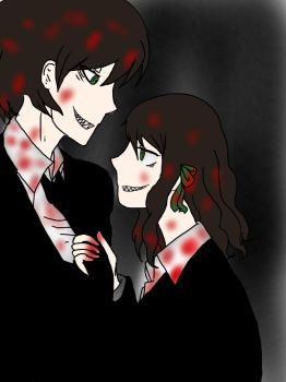 CreepyPasta oc Brother dear,sister dear, by girfireflies1