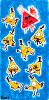 Bill Cipher. by CathyNoire