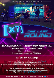 [x7]: One Last Round - Official Announcement by EspionageDB7
