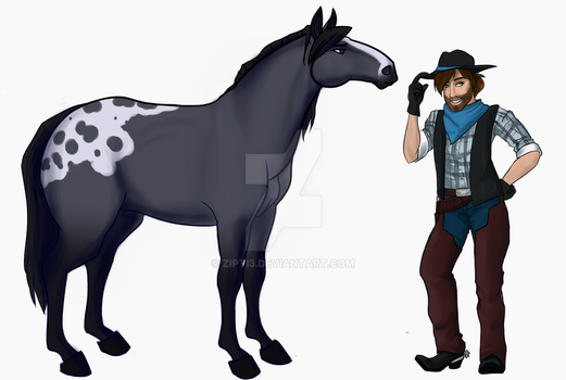 A Horse and A Cowboy Walk Into A Bar... by Zipti3