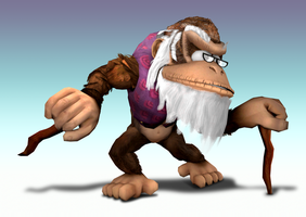 Smash Bros. Brawl: Cranky Kong by Mach-7