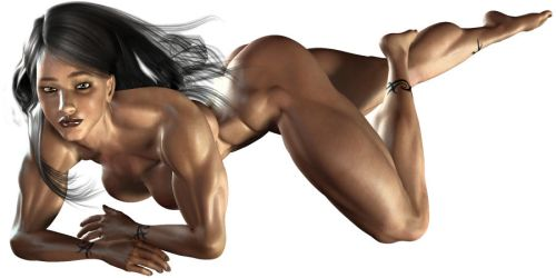 Female muscle - test piece 1 by virmatra