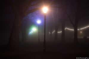 Foggy Lights by Mincingyoda
