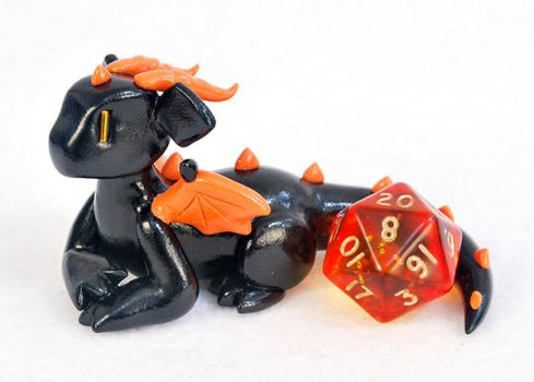 Black and Orange D20 Guardian by HowManyDragons