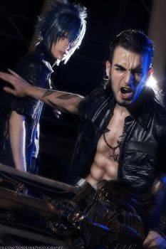 Protect the King - Gladiolus \ Noctis Cosplay FFXV by LeonChiroCosplayArt