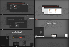 Numix Dark and Linght Theme For Win7 by Cleodesktop