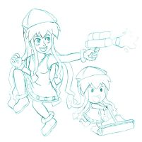 Squid Girl Joins the Splatoon! by theunknown1