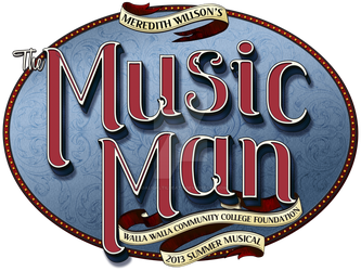 Logo for Meredith Willson's The Music Man by GoaliGrlTilDeath