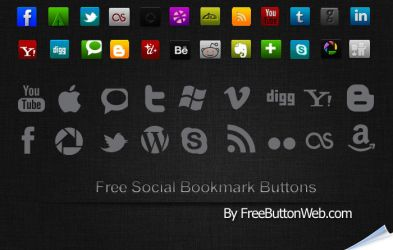 Free Social Bookmark Buttons by button-finder