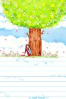 love tree note paper by HiROBii