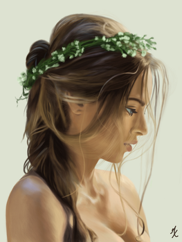 Beautiful Woman Portrait by Gattux