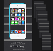 Shelf Wallpaper for iPhone iOS7 Dark Theme by DougitDesign