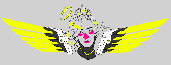 Highlighter Mercy by JingerPink