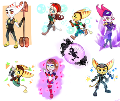 Ratchet and Clank (Chibi) by NACCHAN96