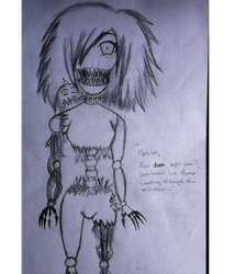 H!Nightmare Chica Full Body (happy birthday FNAF) by CloyeDocete