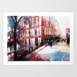 Paris Watercolor by nicolasjolly