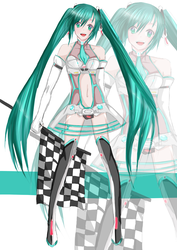 Miku Hatsune -Racing outfit 2012 by TacToki