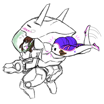 D.va's Fat Ass by Franktonius