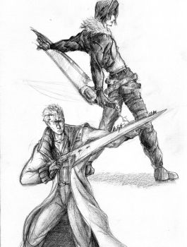 Squall And Seifer by stubacca100