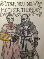 Beric Dondarrion and Thoros of Myr by timburtongot