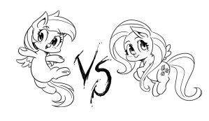 Doodles : Pegasus fight! by mrs1989