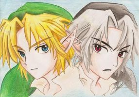 Link and Dark Link by Inuyasha-no-e