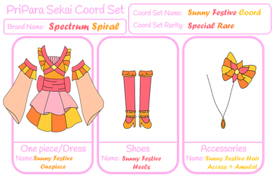 PPS - Spectrum Spiral - Sunny Festive Coord by ninaanime