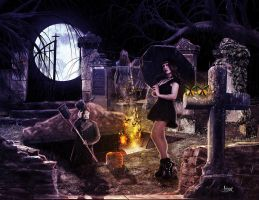 Tomb profaned by Julianez