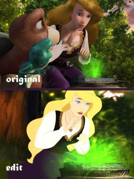 The Swan Princess Odette | CGI vs 2D edit by claude-on-the-road