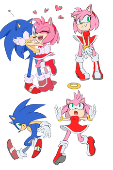 Sketches [sonic, amy] by Di-Dash