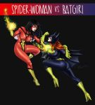 Spider-woman vs Batgirl by LuizRaffaello